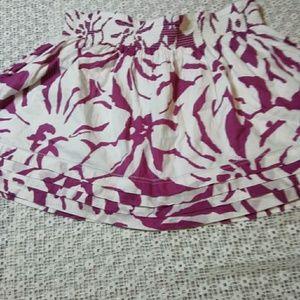 SO Skirts - SO Cotton Raspberry Floral Print Skater Mini Skirt
